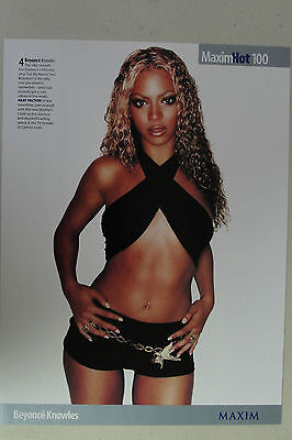 BEYONCE Full Page Pinup magazine clipping Destiny's Child era