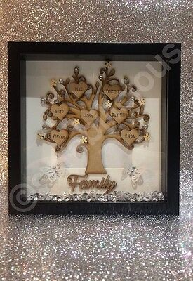 Wooden Family Tree Scrabble Frame