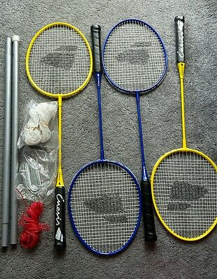 4 x Badminton Racket Set with Case and Net