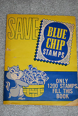 Vintage Blue Chip Stamps Saver Book Advertising