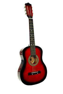 "Kid's 23"" Wood Toy Guitar Red with Pick"