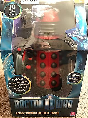 Doctor Who 12 Inch DRONE DALEK NEW VERY RARE RED DALEK RADIO CONTROLLED