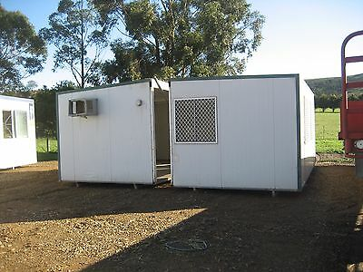 site shed 6x6 metre (2 piece)