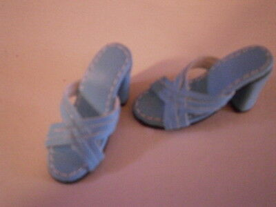 Kingstate Shoes Teal Sandals.  Fits Gene and like footed dolls