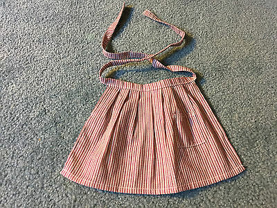 American Girl KRISTEN Doll Red Striped Meet Outfit APRON mint condition