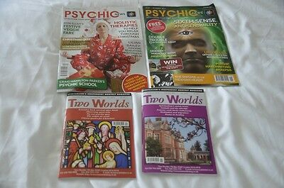 2 Psychic News Magazines Pristine condition & 2 Two Worlds Mags Nov & Dec 2014