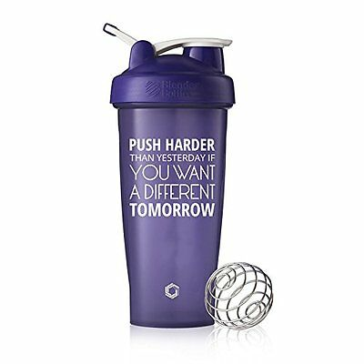 Purple Push Harder Blender Bottle Shaker, 28oz Classic Blender Bottle