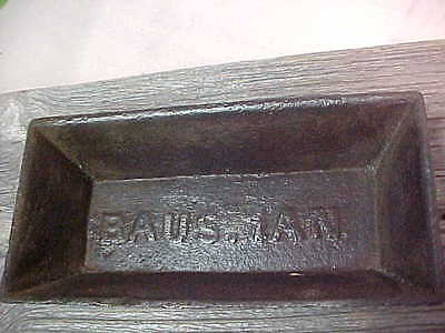"""Vintage 1800""""s Bausman Lancaster County Pa Chick Cast Iron Feed Trough"""