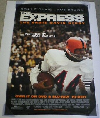 THE EXPRESS DVD MOVIE POSTER 1 Sided ORIGINAL 27x40