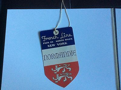 Normandie luggage tag - 1930s perfect!