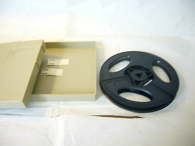 "Vintage 8mm Plastic Film Reel with Case--5"" holds 200 feet of film"