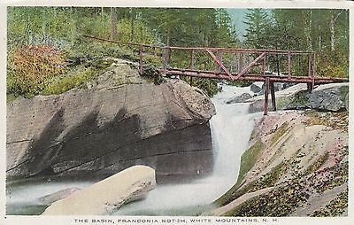 White Mountains, Nh The Basin, Franconia Notch Vintage Unposted