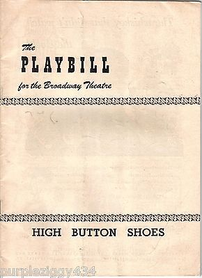 Vintage Playbill for the Broadway Theater ~ 1949~ High Button Shoes