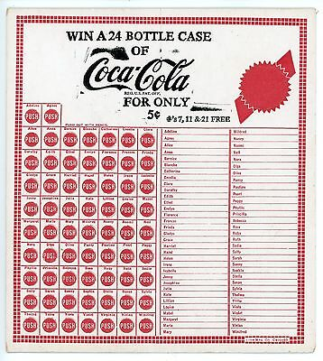 LOT OF 6 COCA-COLA COKE  VINTAGE ADVERTISING PUNCH CARDS GAME Very Nice