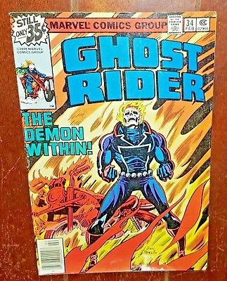 Ghost Rider #34 (1979, Marvel) The Boy Who Lived Forever!