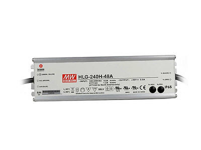 Mean Well HLG-240H-48A AC/DC Power Supply Single-OUT 48V 5A 240W, US Authorized