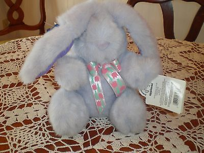 Vintage Applause Easter Bunny Rabbit Purple Named Natasha New  with tags