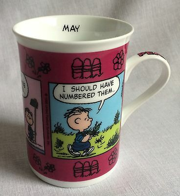 May Peanuts Mug Spring Themed Cup Danbury Mint Porcelain Charles Schulz