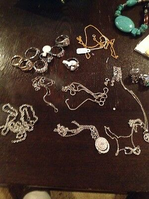 Assorted Jewelry Sterling Silver And Stainless Steel Free Shipping