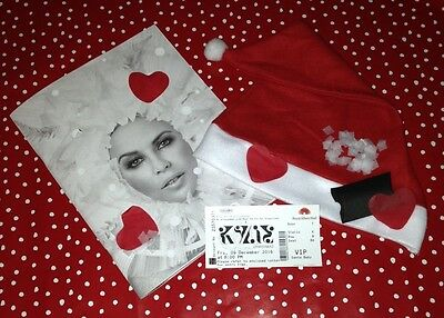 Kylie Christmas 2016 RHA programme bundle + hat, snow/hearts and copy VIP ticket
