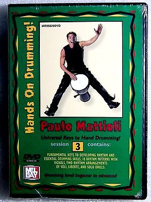Brand New GIFT Ready Paulo Mattioli Hands On Drumming Session 3 DVD Mel Bay