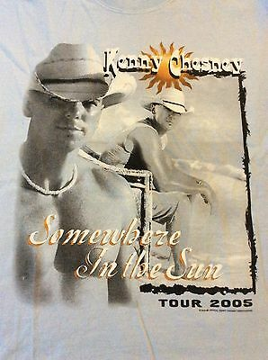 Kenny Chesney Somewhere In The Sun Tour 2005 Mens Medium Blue T-Shirt 3.7.16