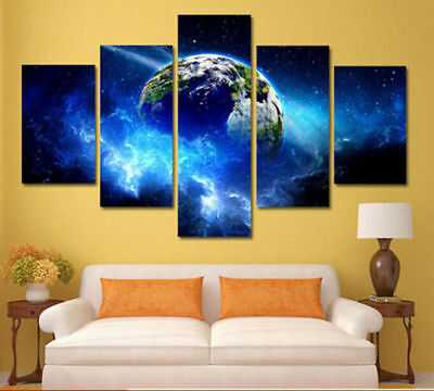 Modern Abstract Art Print Oil Painting Wall Decor Canvas Earth (No Frame)