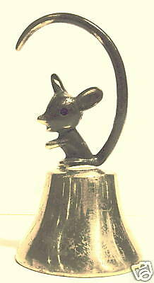 Solid Brass Table Bell with Mouse