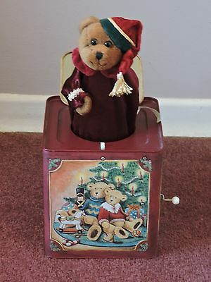 Vintage Christmas Bear Jack in the Box