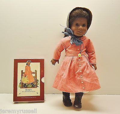 "EXCELLENT American Girl ADDY 18"" DOLL AND SEALED BOOK SET"