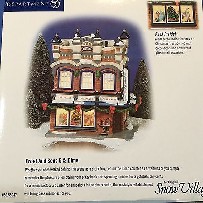 Dept 56 Snow Village® FROST AND SONS 5 & DIME - BRAND NEW
