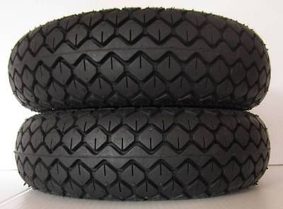 """2 Pack Special Mobility Scooter Tyres 330 x 100 4.00 x 5"""" Black Diamond FREEPOST"""