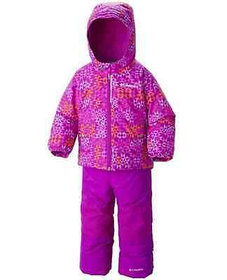 COLUMBIA Snowsuit Bib Pants Coat Jacket set Girl 3T Winter Warm FROSTY SLOPE