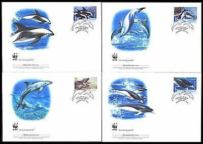 2009 Australia - Wwf - Dolphins - 4 Covers - Fdc - Cover - J44