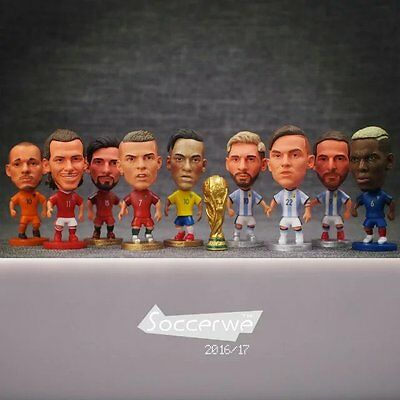 """2016 Type Soccer National team Player Figure Dolls 2.5"""" Action Figurine"""
