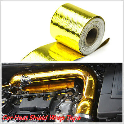 """Golden Color 2""""x33' Roll Self Adhesive Reflective Car SUV Heat Shield Wrap Tape"""