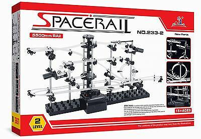 SpaceRail 233-2 Level 2 Steel Marble Run Roller Coaster kit with 5,500mm rail
