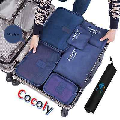 Cocoly 7pcs travel Organizers Packing Cubes Luggage Organizers Compression Pouch