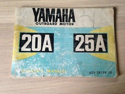 Yamaha 20A/25A Outboard Engine Owners Manual