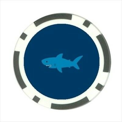 Cartoon Shark Pokerchip Guard