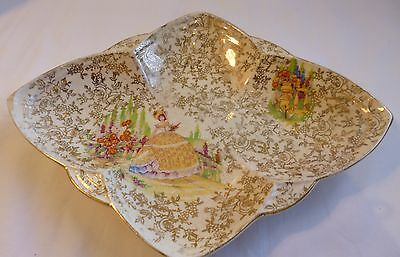 Antique Collectable1950s porcelain decorated plate madein Empire England 26X16cm