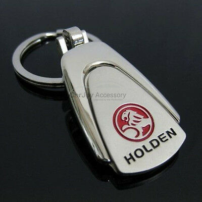 Holden Chrome Embossed Stainless Steel Key Ring Commodore Captiva Cruze Keyring