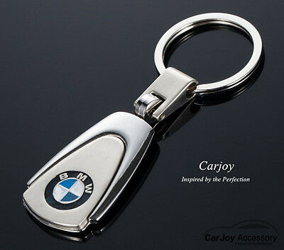 BMW Chrome Embossed Stainless Steel Key Ring Series 1 3 5 7 X1 X3 X4 X5 Keyring