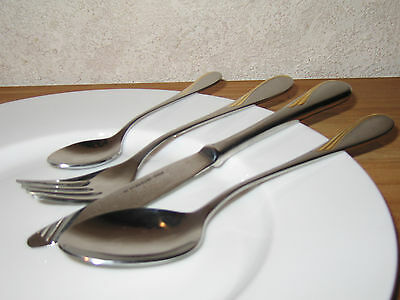 ETERNUM *NEW* VENEZIA OR Set 4 couverts Cutlery SATIN