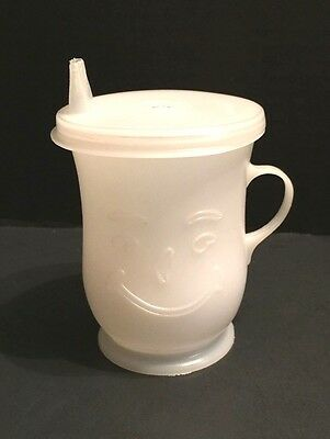 VINTAGE White Plastic KOOL AID CUP+Tupperware SIPPY CUP LID Fits Perfectly #1552