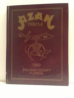 1989 Azan Temple Album Shriners Brevard County Florida Yearbook Directory