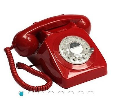 Original Gpo Vintage 746 Red  Dial Telephone [Not Converted]Lovely  Phone