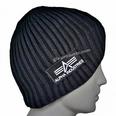 Top Quality Beanies from Alpha Industries heavy rib olive black comfortable cosy