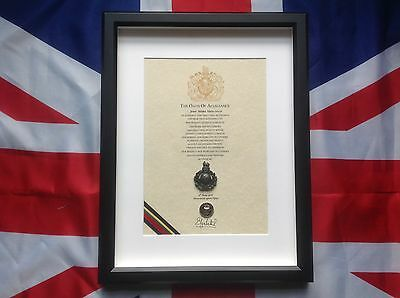 Royal Marines Oath Of Allegiance With Cap Badge And Shilling