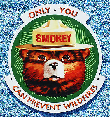 US Forest Service NEW Smokey Bear Only You Can Prevent Wildfires Fiberglass Sign